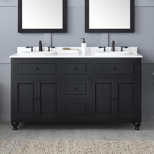 Antique Black Double Sink Bathroom