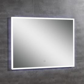 brushed nickel bathroom mirror. OVE Decors Saros 39 0 in x 28 Rectangular Frameless Bathroom Mirror Shop Mirrors at Lowes com