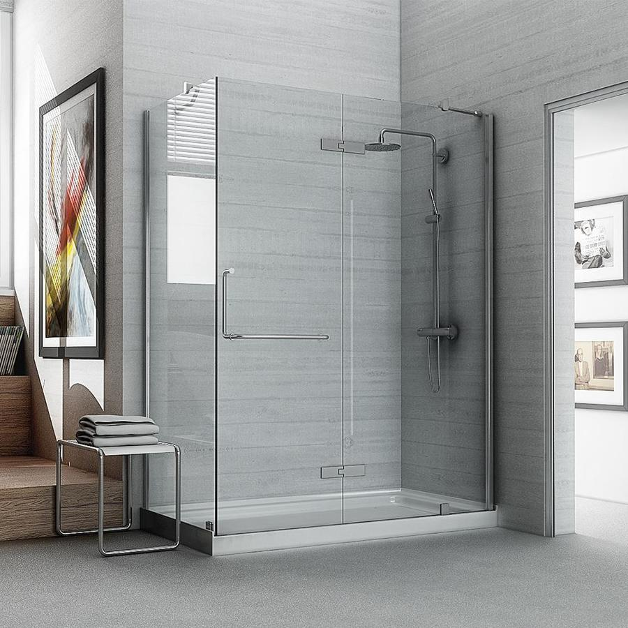 Shop ove decors shelby 74 0 in h x w shower glass for Bathroom enclosure designs