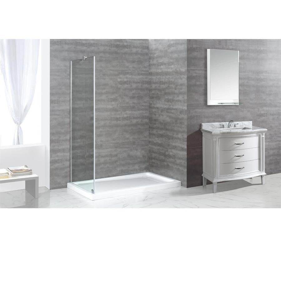 OVE Decors Shelby 74.0-in H x 34.0-in W Shower Glass Panel