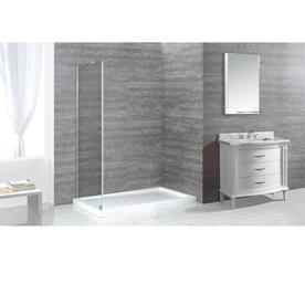 OVE Decors Shelby 74 0 in H x 34 0 in W Shower Glass PanelShop Bathtub   Shower Door Glass at Lowes com. Lowes Bathtub Shower Doors. Home Design Ideas