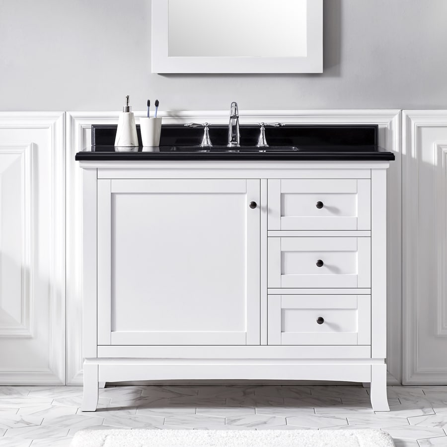 Ove Decors Sophia White Undermount Single Sink Bathroom Vanity With Granite Top Common 42