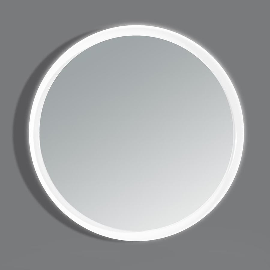 OVE Decors Aries 31-in x 31-in Round Frameless Lighted Bathroom Mirror