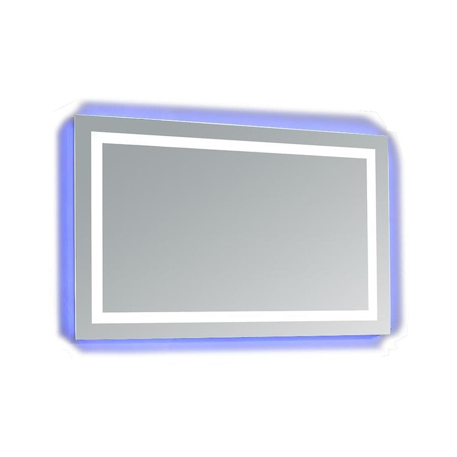 OVE Decors Jovian 43-in W x 28-in H Rectangular Frameless Bathroom Mirror with Hardware and Polished Edges