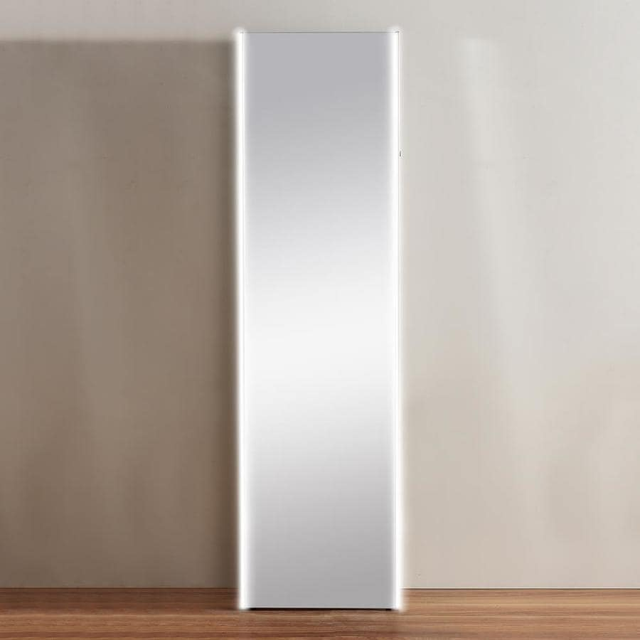 OVE Decors Tycho 17.5-in x 65-in Silver Polished Rectangle Frameless French Floor Mirror