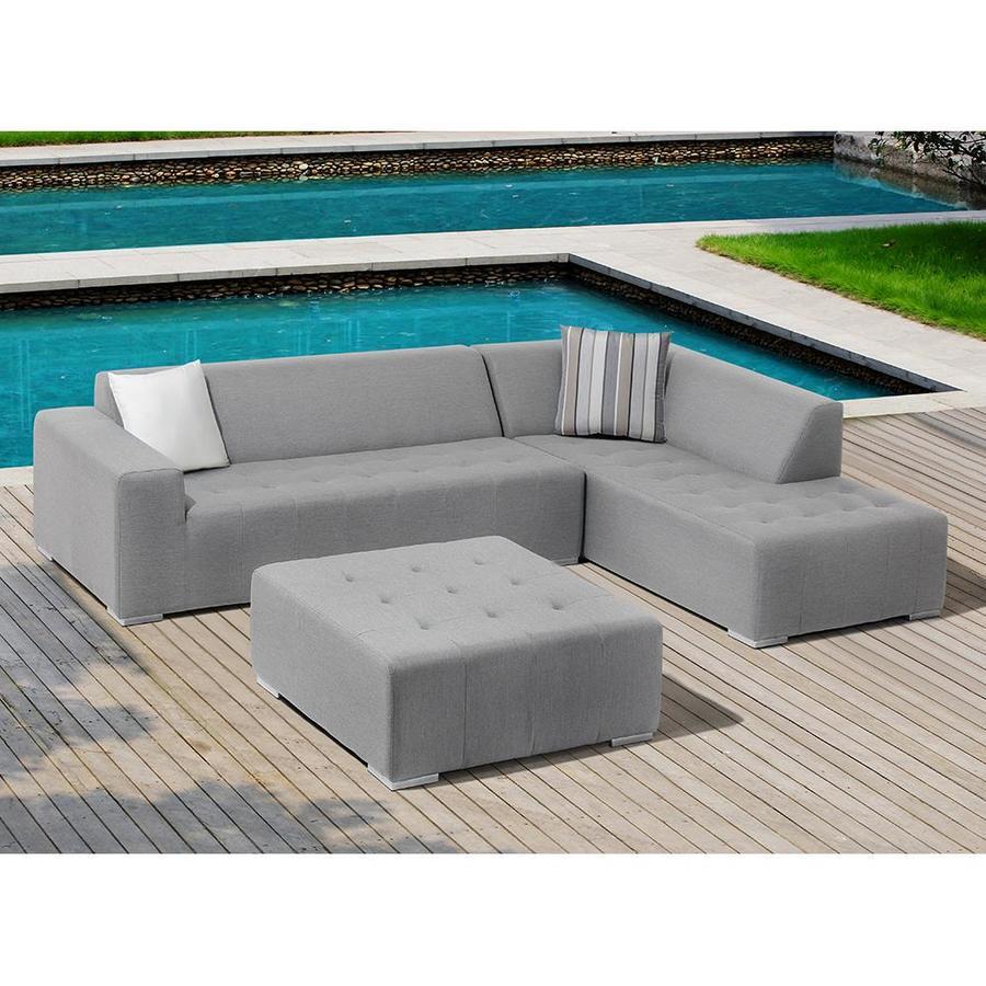 OVE Decors Eden 3-Piece Aluminum Patio Conversation Set