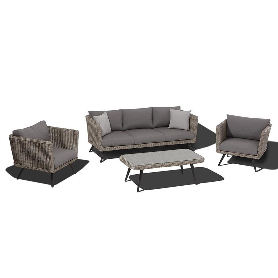 OVE Decors Danforth 4-Piece Steel Patio Conversation Set