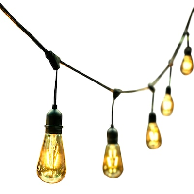 48 Ft 24 Light Clear Gl Shade Plug In Bulbs String Lights