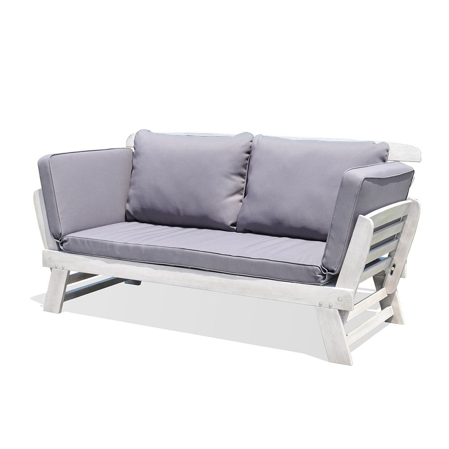 OVE Decors Daisy Solid Cushion Gray Eucalyptus Daybed