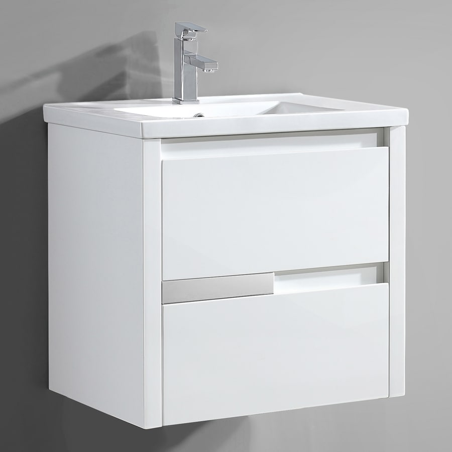 Shop Ove Decors Cesarino Gloss White Integrated Single