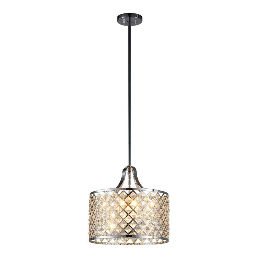 OVE Decors Baker 14.1-in Chrome Multi-Light Cylinder LED Pendant
