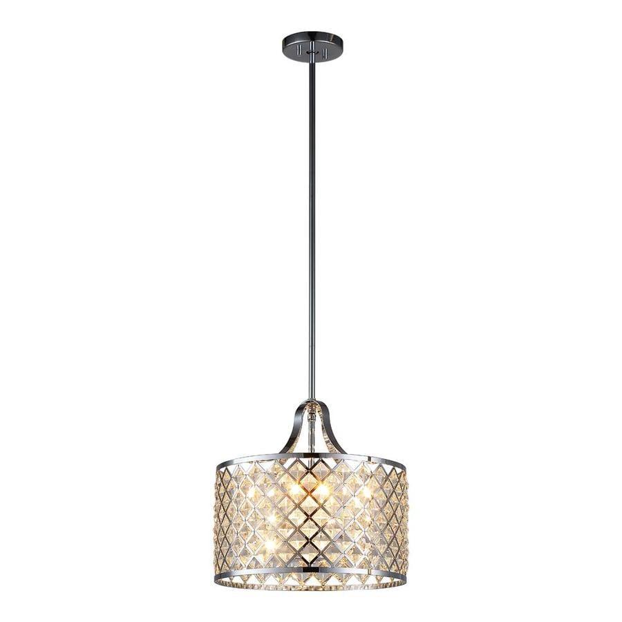 baker 14 1 in chrome multi light cylinder led pendant at. Black Bedroom Furniture Sets. Home Design Ideas