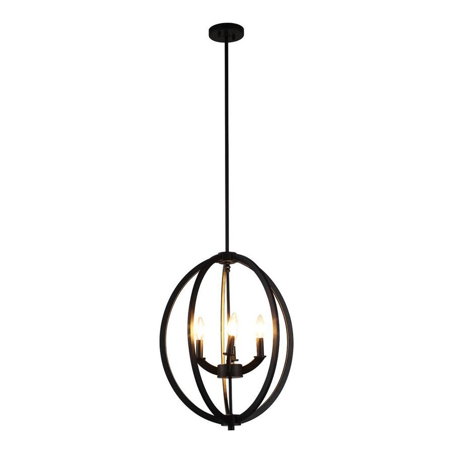 OVE Decors Dura 18-in 4-Light Bronze Cage LED Chandelier
