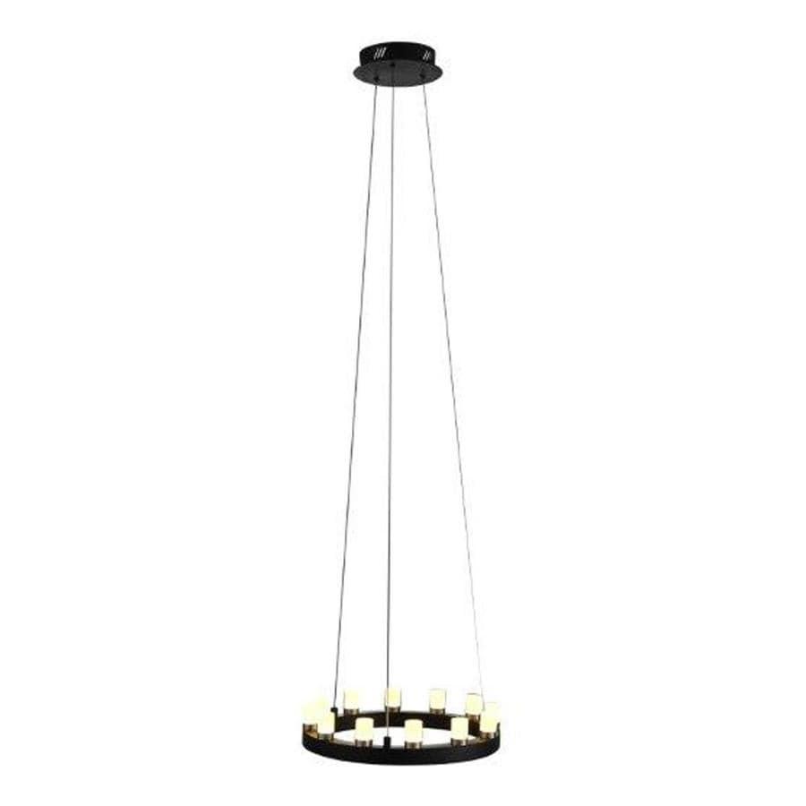 OVE Decors Hugo 15.5-in 12-Light Black Linear LED Chandelier