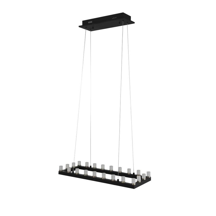 OVE Decors Gemma 31.5-in Black Linear Rectangle LED Pendant