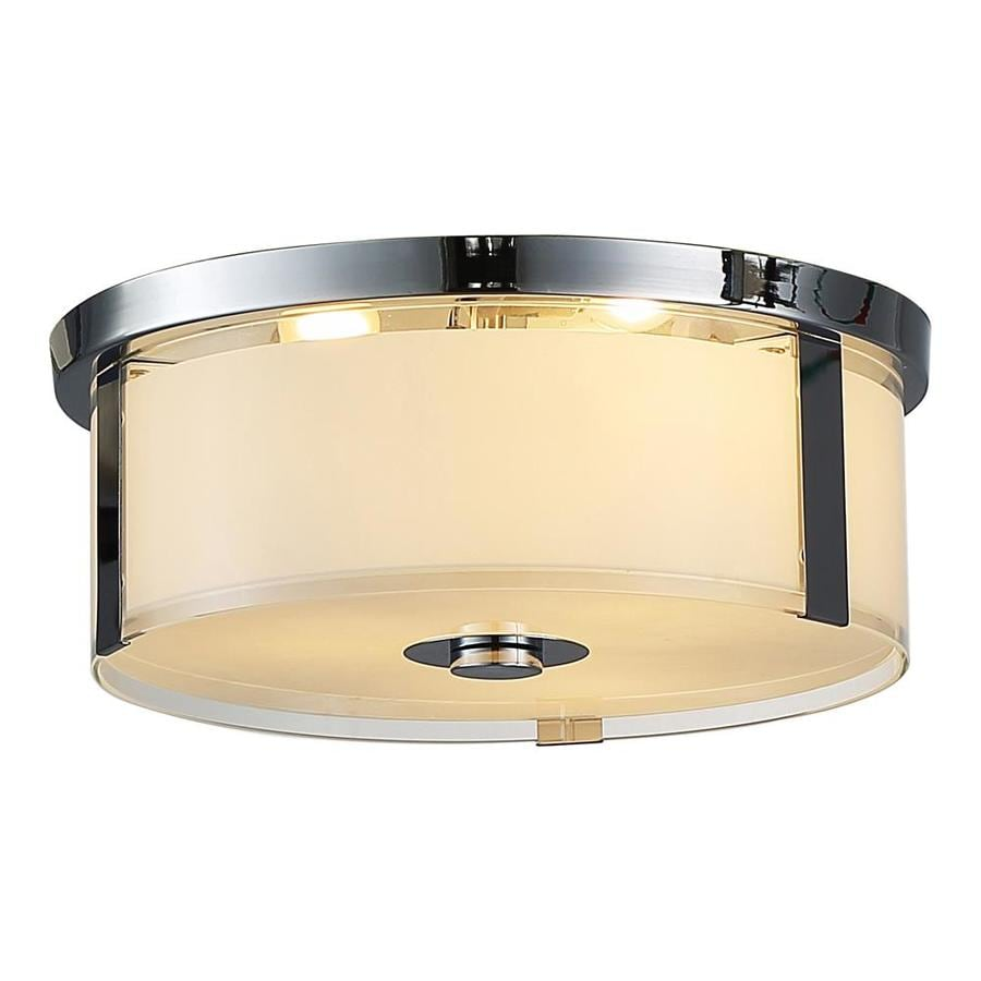 OVE Decors Bailey 15-in W Chrome LED Flush Mount Light