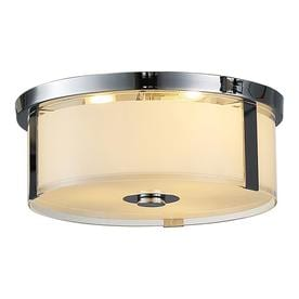 OVE Decors Bailey 15 In W Chrome LED Flush Mount Light
