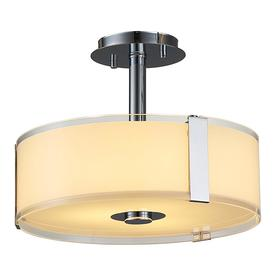 OVE Decors Bailey 14-in W Chrome Alabaster Glass LED Semi-Flush Mount Light  sc 1 st  Loweu0027s & Shop Semi-Flush Mount Lights at Lowes.com azcodes.com