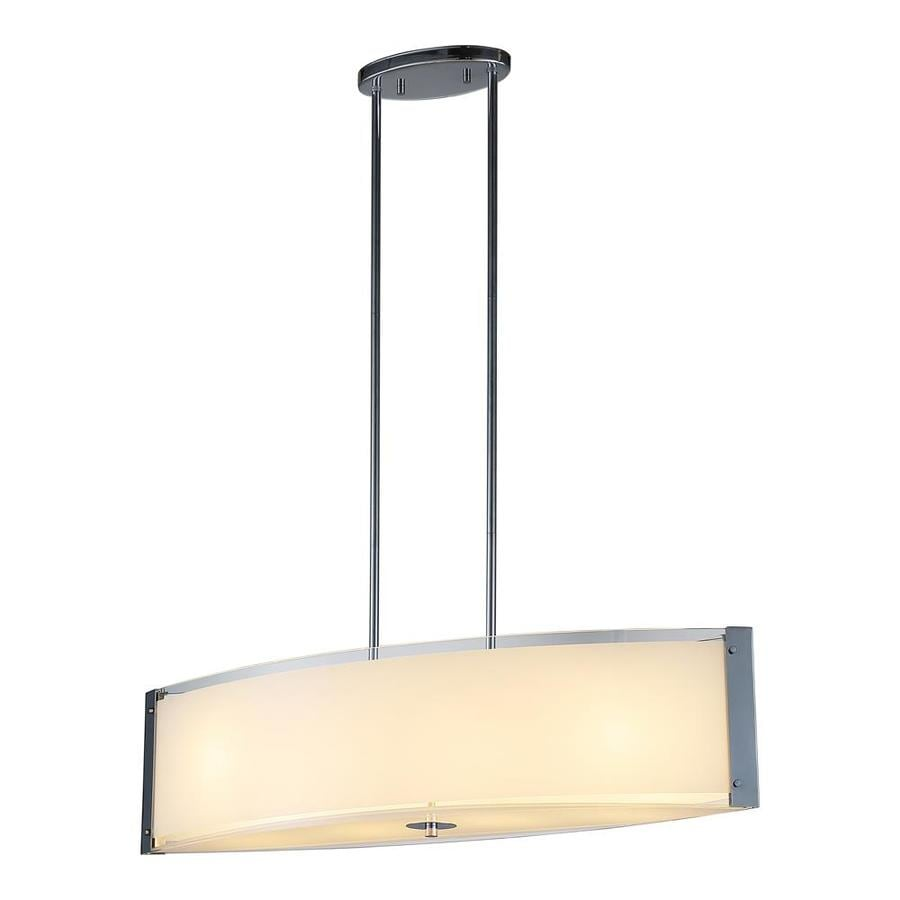 OVE Decors Bailey 32-in Chrome Linear Cylinder LED Pendant
