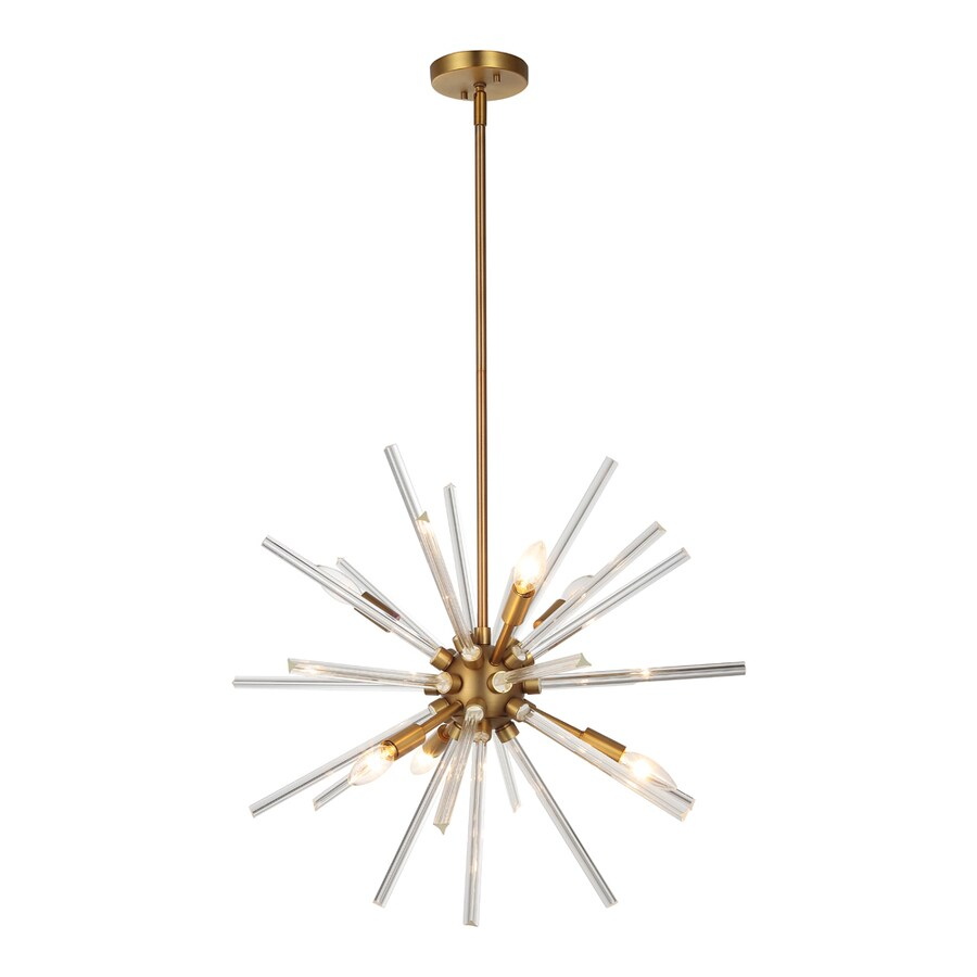 OVE Decors Harbin 24.4-in 6-Light Antique Bronze Abstract LED Chandelier