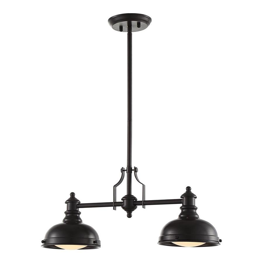 OVE Decors Bergin 24.0-in Oil-Rubbed Bronze Linear Bell LED Pendant