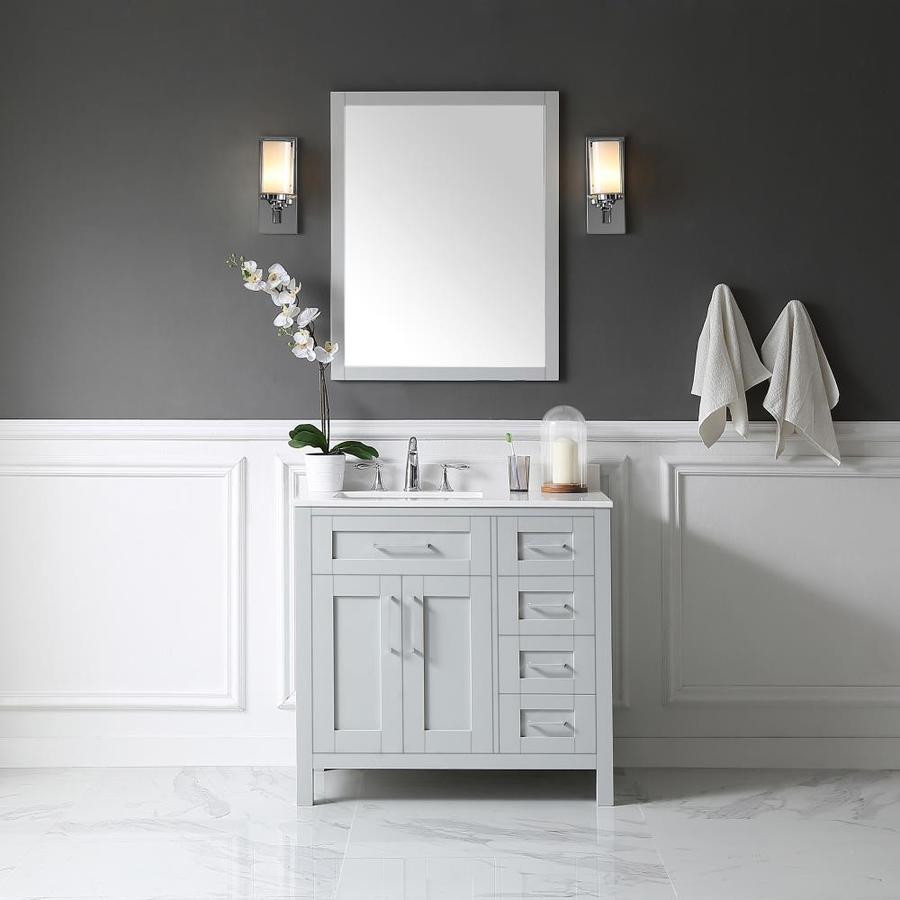 OVE Decors Tahoe 36-in Dove Gray Single Sink Bathroom ...