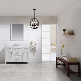ove decors tahoe white undermount single sink bathroom vanity with natural marble top common