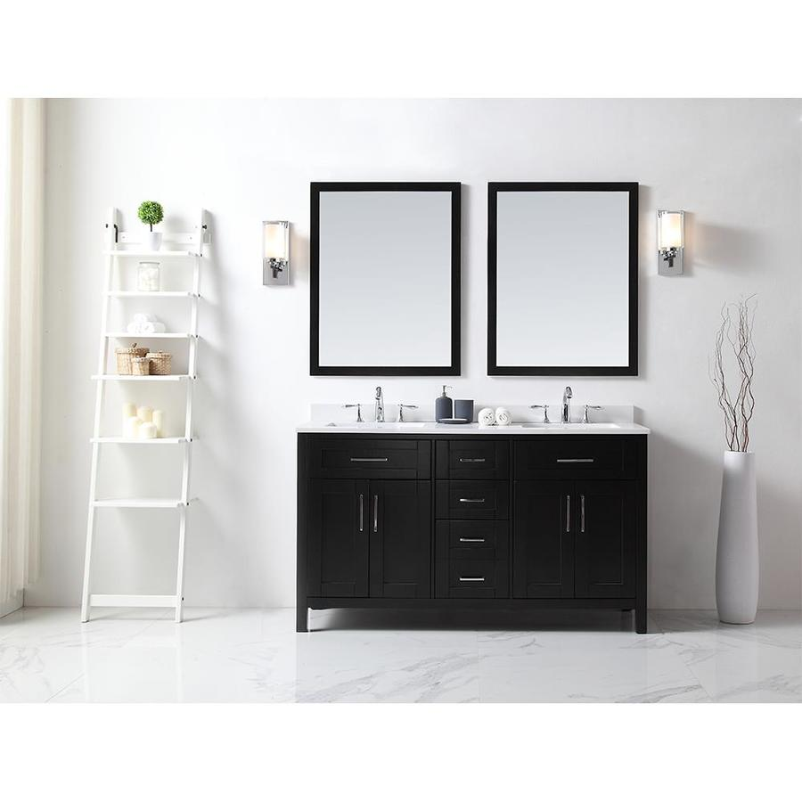 OVE Decors Tahoe Espresso Undermount Double Sink Bathroom Vanity with Quartz Top (Common: 60-in x 21-in; Actual: 60-in x 21-in)