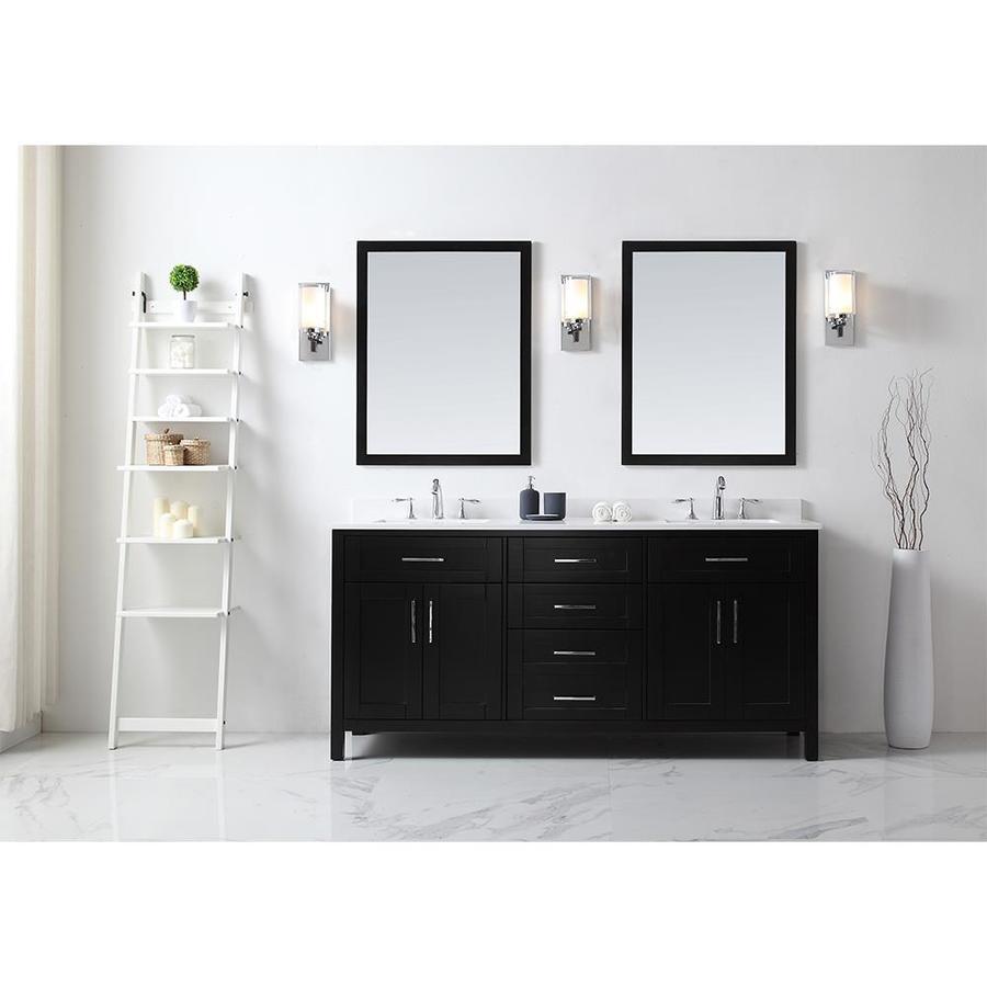 OVE Decors Tahoe Espresso Undermount Double Sink Bathroom Vanity with Quartz Top (Common: 72-in x 21-in; Actual: 72-in x 21-in)