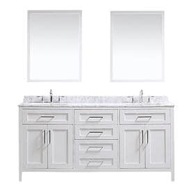 ove decors tahoe white undermount double sink bathroom vanity with natural marble top common