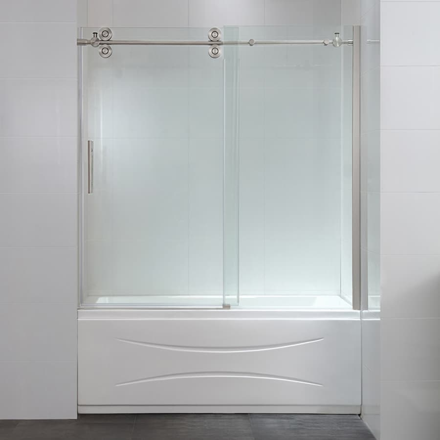 shop bathtub doors at lowes com ove decors sydney 59 5 in w x 59 0 in h frameless bathtub door
