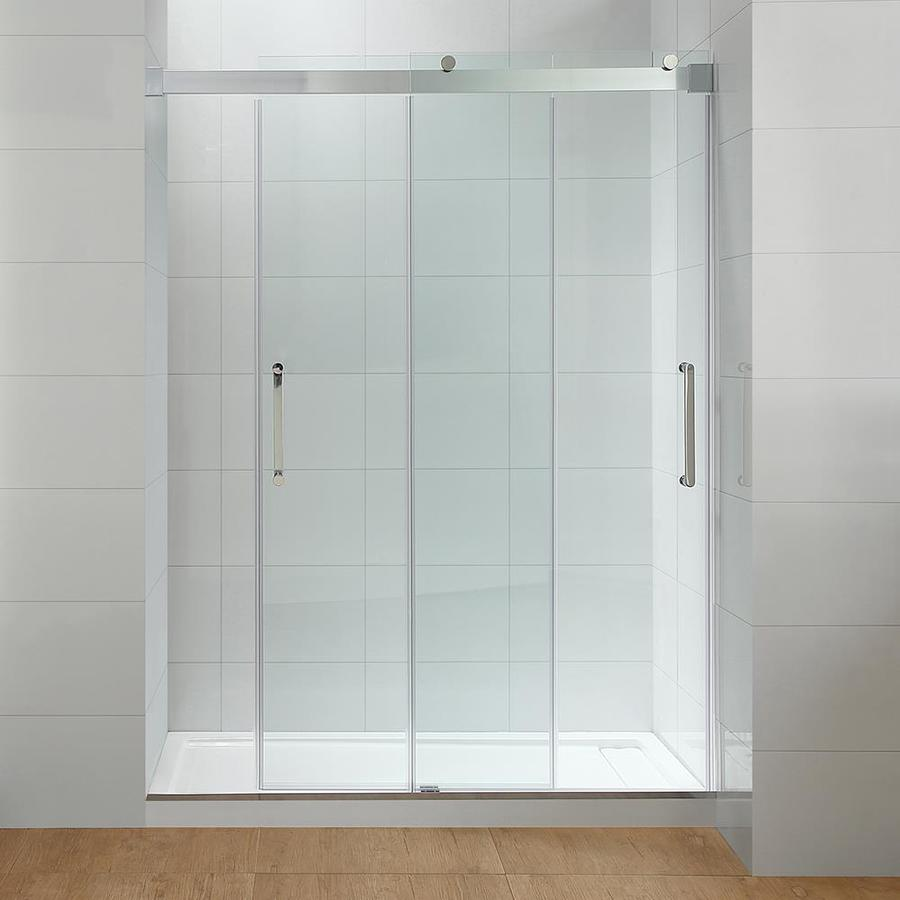 Shop Ove Decors Beacon 60 In Chrome Double Sliding Shower Door At