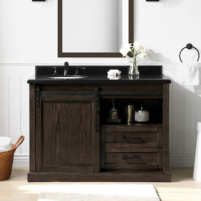 Ove Decors Laredo 48 In Rustic Walnut Single Sink Bathroom
