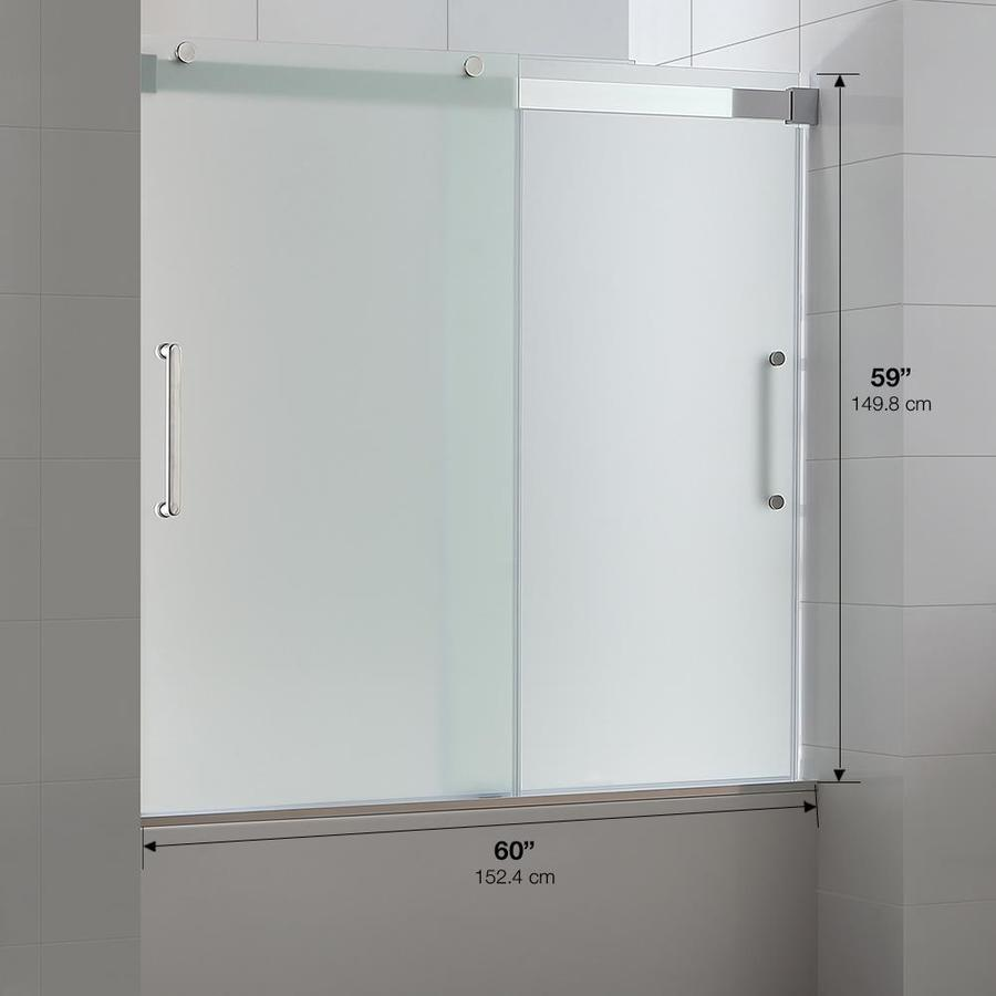 Shop Ove Decors Beacon 5944 In W X 590 In H Frameless Bathtub Door