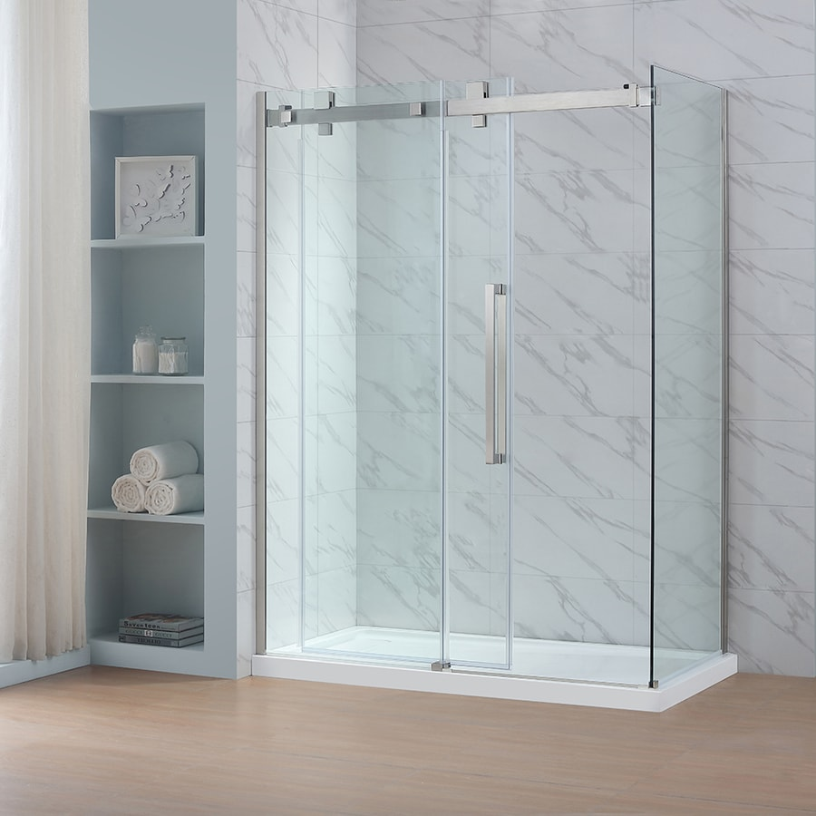 Genial OVE Decors Glendale 78.75 In H X 30.375 In W Clear Shower Glass Panel
