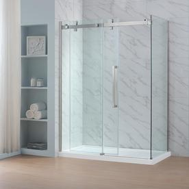 ove decors glendale 7875in h x 30375in w clear shower glass panel