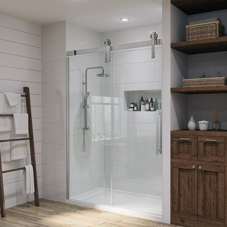 Ove Decors Sedona 58 25 In To 59 W Frameless Satin Nickel Sliding Shower