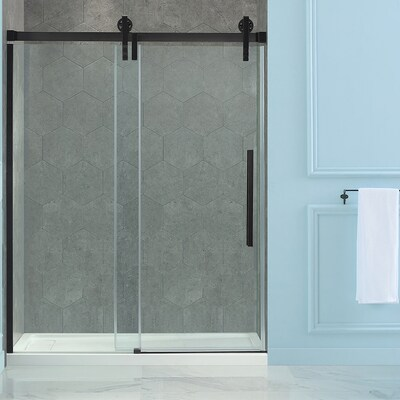 Sedona 58 25 In To 59 W Semi Frameless Byp Sliding Oil Rubbed Bronze Shower Door
