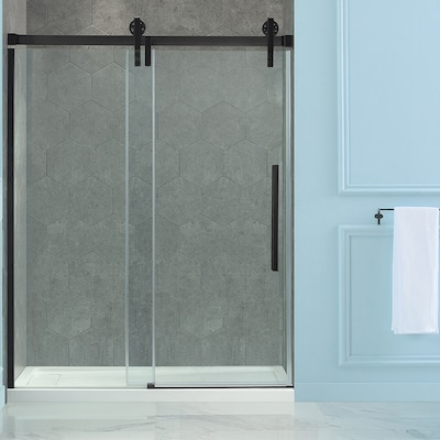 Sedona 58 25 In To 59 25 In W Semi Frameless Bypass Sliding Oil Rubbed Bronze Shower Door
