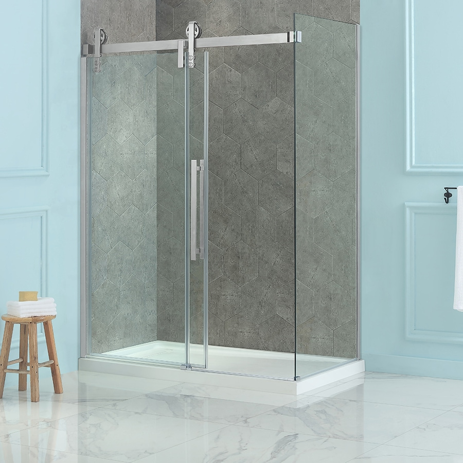 OVE Decors Sedona 78.75 In H X 30.375 In W Clear Shower Glass Panel