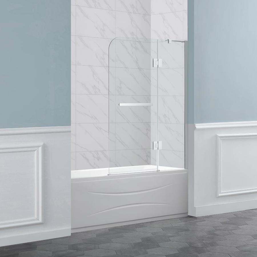 Bathroom Remodel Burbank: Shop OVE Decors Burbank 40.4-in W X 55-in H Bathtub Door