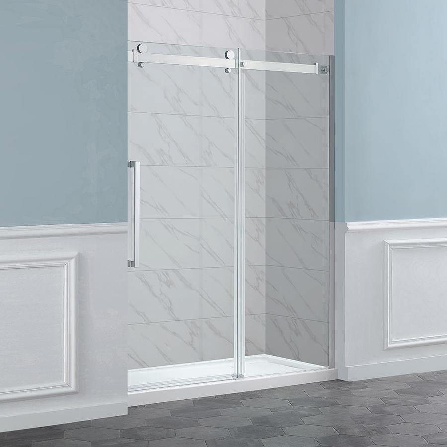 OVE Decors Harvard 60-in Alcove Chrome Sliding Shower Door & Shop OVE Decors Harvard 60-in Alcove Chrome Sliding Shower Door at ...