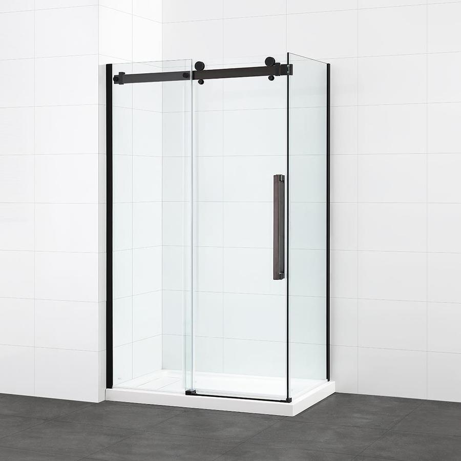 Shop OVE Decors Harvard 48-in Corner ORB Sliding Shower Door at ...