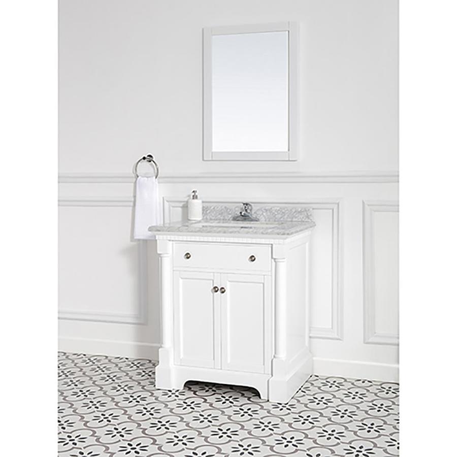 Ove Decors Claudia 30 In White Single Sink Bathroom Vanity