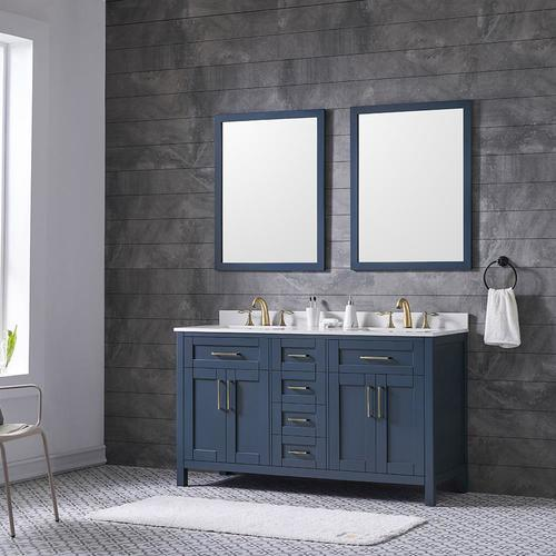 ove decors tahoe 60in midnight blue double sink bathroom