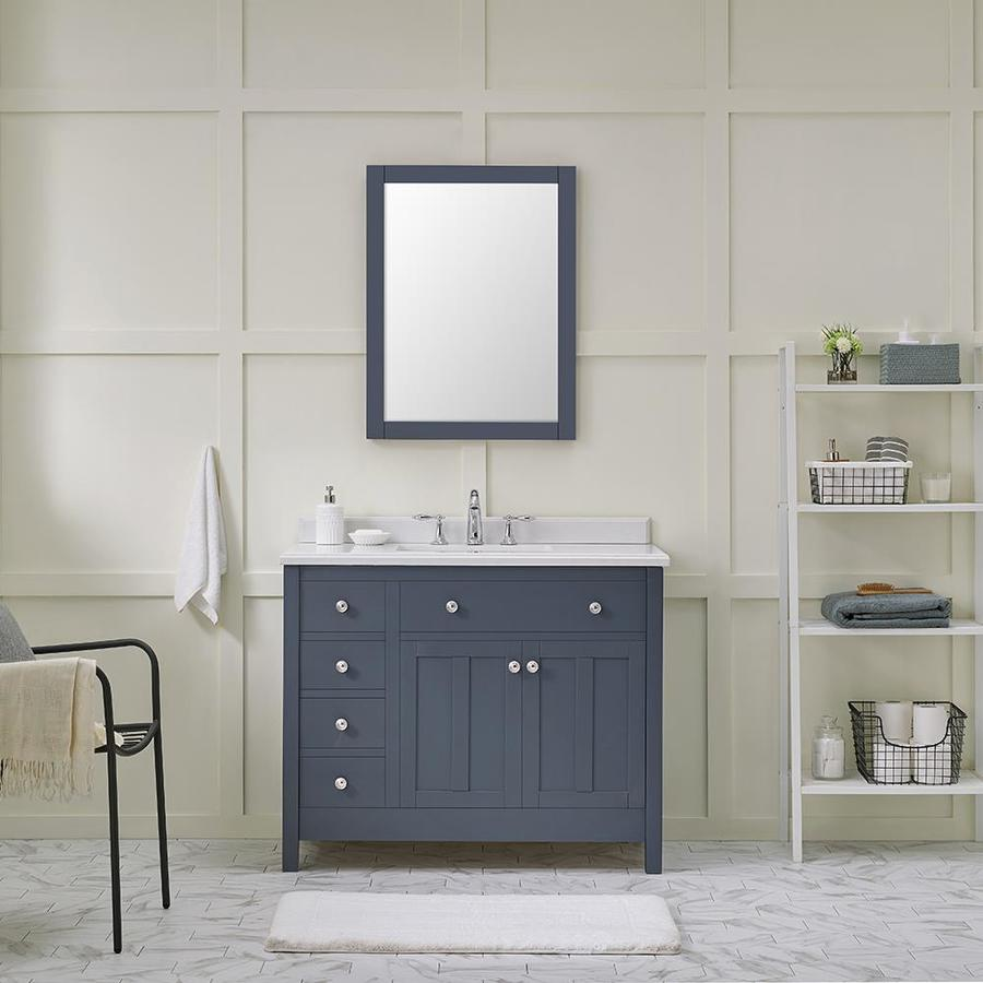 Ove Decors Newcastle 42 In Charcoal Undermount Single Sink Bathroom Vanity With Yves Cultured Marble Top In The Bathroom Vanities With Tops Department At Lowes Com