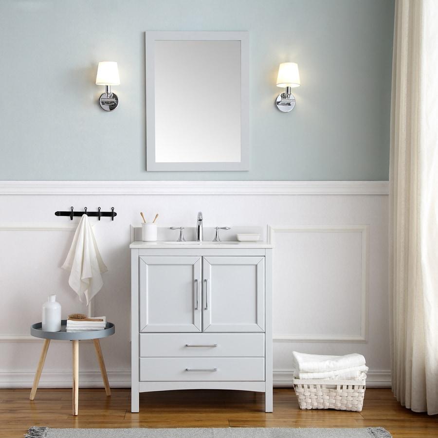 Ove Decors Joyce 30 In Dove Gray Single Sink Bathroom