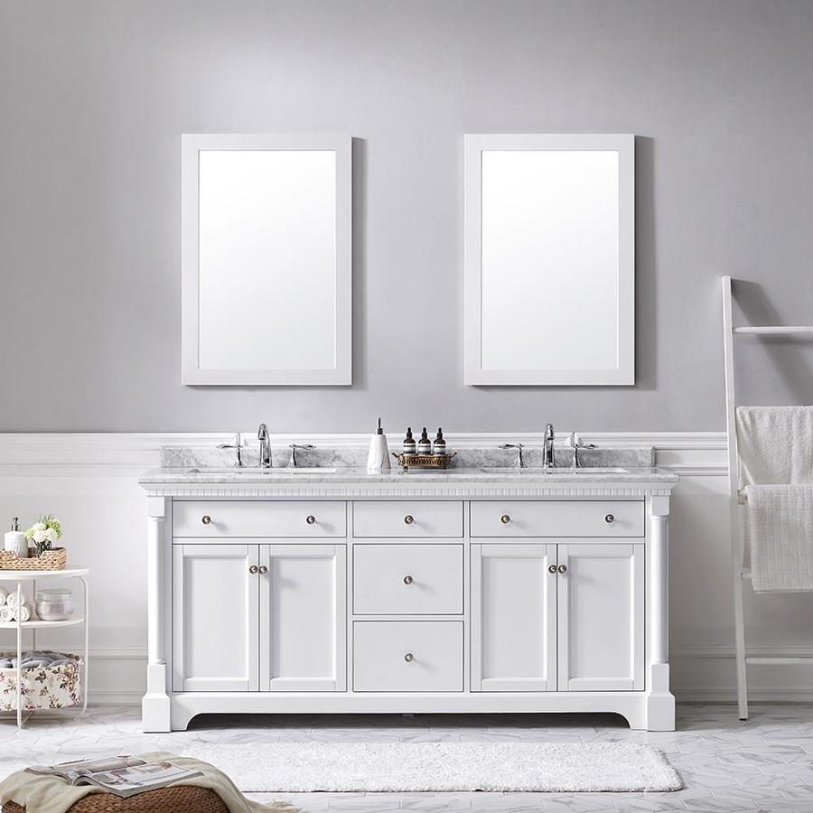 Ove Decors Claudia 72 In White Double Sink Bathroom Vanity