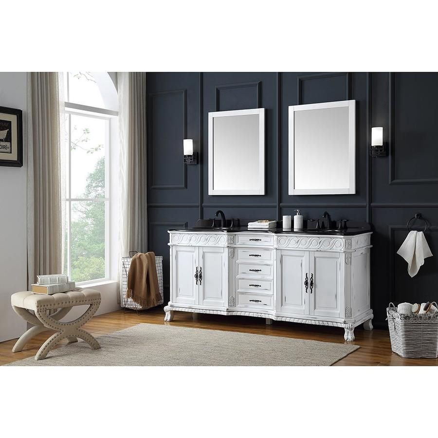 Ove decors thetford 72 in antique white double sink - Antique white double sink bathroom vanities ...