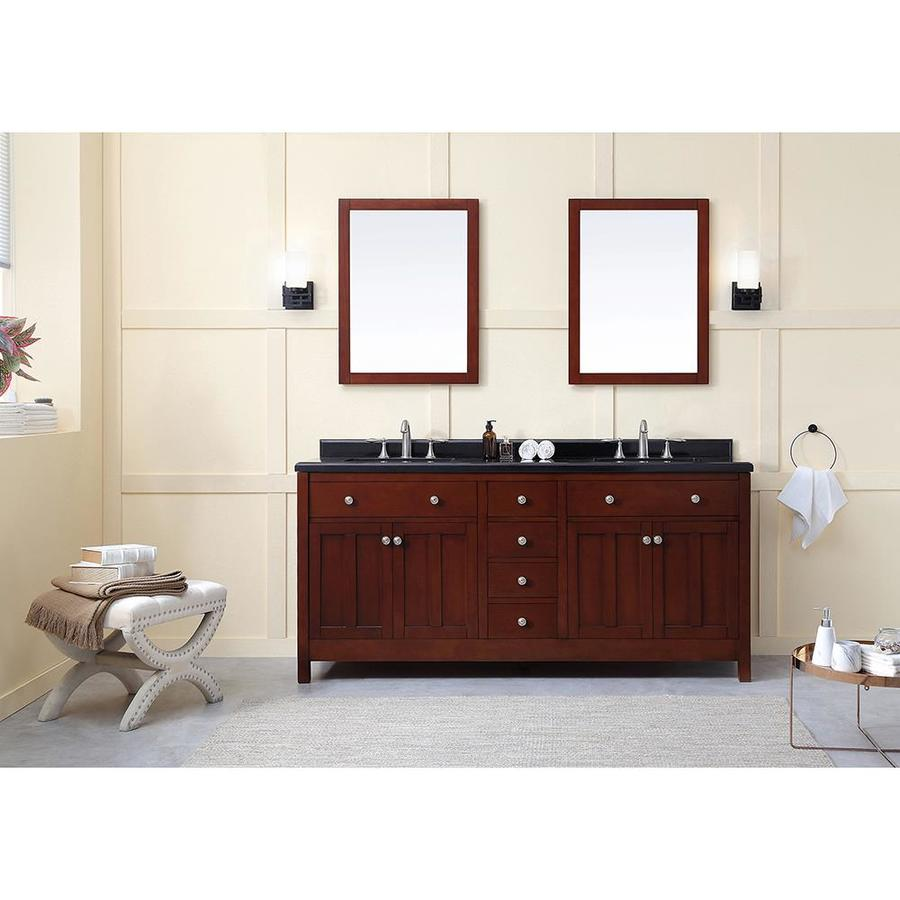 Ove Decors Castel 72 In Dark Cherry Double Sink Bathroom Vanity With